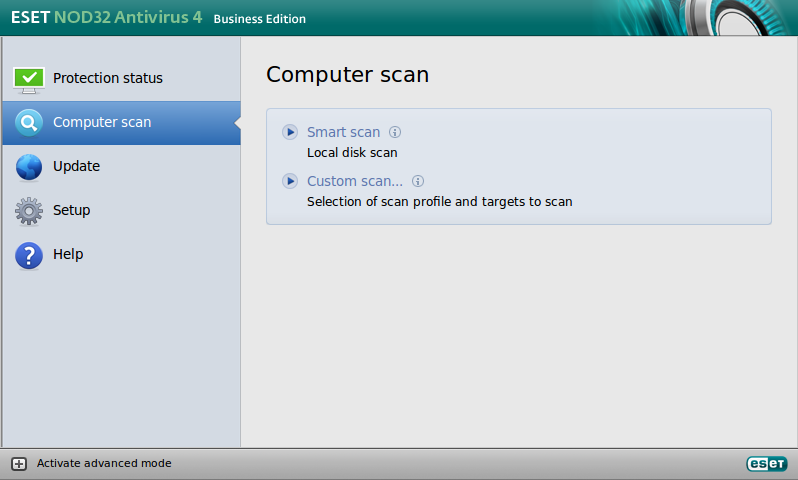ESET NOD32 Antivirus Business Edition pre Linux Desktop - Computer Scan