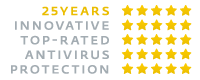 Logo - 25 Years Innovative Top-Rated Antivirus Protection