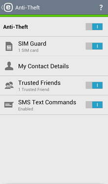 Mobile: ESET Mobile Security for Android - Anti-Theft