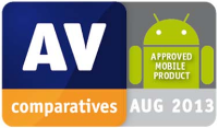AV-Comparatives: APPROVED MOBILE PRODUCT, AUG 2013