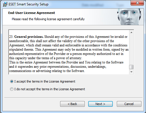 Eset End User License Agreement